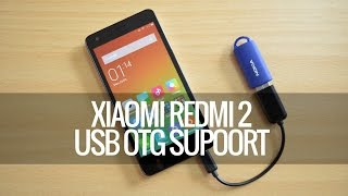 Xiaomi REDMI 2 PRIME - How to Connect USB Drive (OTG Support) Explained.