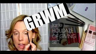 getlinkyoutube.com-GRWM | QVC tarte Holidaze of Giving Set