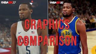 getlinkyoutube.com-NBA 2K17 vs NBA 2K16 - 1st Trailer Official Face/Graphics Comparison