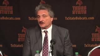 Texas State MBB Postgame Press Conference vs. St. Peter's - Danny Kaspar