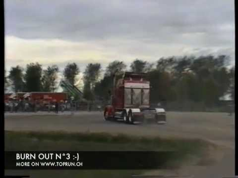 Kenworth W900 Crazy Burn Out !!!