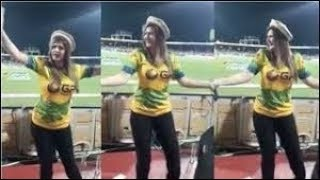 Zareen Khan new hot dance for Shahid Afridi T10 league