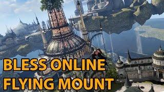 getlinkyoutube.com-Bless Online Flying Mount - Aqua Elf Floating City