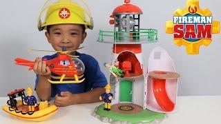 getlinkyoutube.com-Fireman Sam Lighthouse Playset Toys Unboxing Fun With Wallaby Neptune Ckn Toys