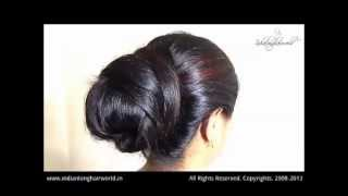 ILHW model of the month March 2013 jayshree brushing, braiding & bunning video