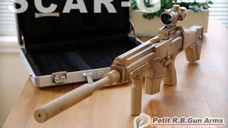 getlinkyoutube.com-ゴム銃 SCAR - G セミ/フル切換え式 25連発 アサルトライフル - rubber band gun