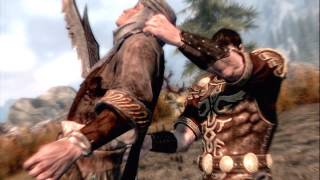 getlinkyoutube.com-All Skyrim Kill Moves As Leonidas.