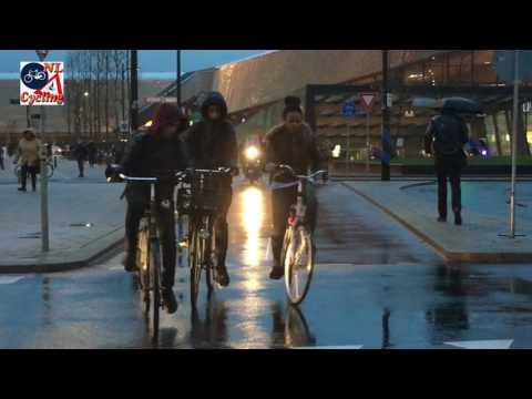 Riding in the Rotterdam Rain