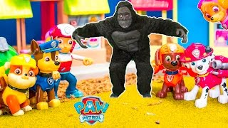 getlinkyoutube.com-PAW PATROL Nickelodeon Paw Patrol Tickles the Gorilla a Paw Patrol Video Parody