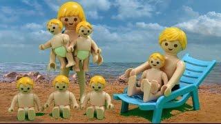 getlinkyoutube.com-Sechslinge machen Urlaub Playmobil Film seratus1 stop motion Ferienhotel