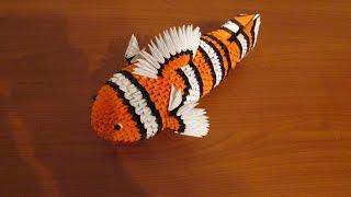 getlinkyoutube.com-3D Origami Nemo Tutorial