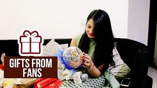 getlinkyoutube.com-Giaa Manek receives gifts from her fans