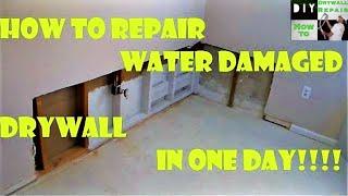 getlinkyoutube.com-How to repair water damaged drywall in one day!!