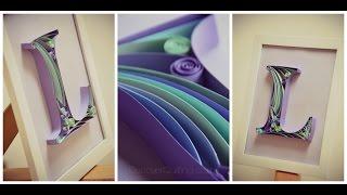 getlinkyoutube.com-DIY Paper Quilling Letter - Tutorial Part 1