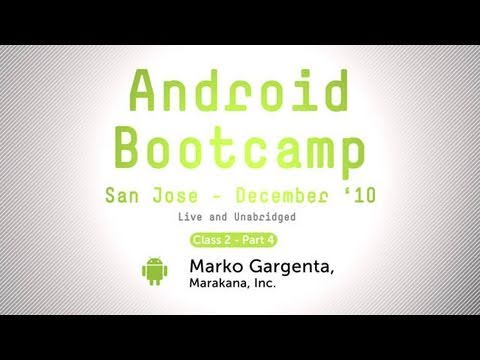 Video: Android Application Development - AsyncTask, Preferences, and Options Menu