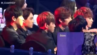 "getlinkyoutube.com-Exo Reation to Sistar ""Give It To Me"" (3rd GAON Chart Kpop Awards)"