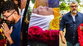 getlinkyoutube.com-Manorama paid last respect by the Stars - Kamal   Vijay   Ajith