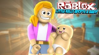 getlinkyoutube.com-LITTLE KELLY ADOPTS A BABY | Roblox - MeepCity