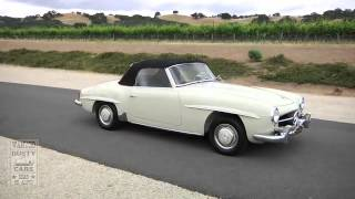 1957 Mercedes 190SL beige green