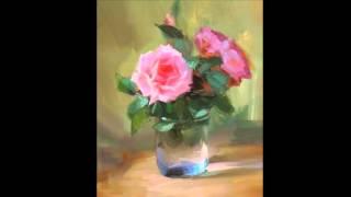 getlinkyoutube.com-Светящаяся роза живопись маслом