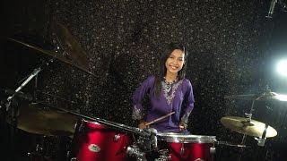 getlinkyoutube.com-Khalifah - Hang Pi Mana ( Drum Cover by Nur Amira Syahira )