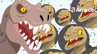 getlinkyoutube.com-Agar.io Jurassic World T-Rex vs Raptors in Agario Server - Agario Live Stream