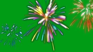 getlinkyoutube.com-colour fireworks - green / black screen effect