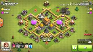 getlinkyoutube.com-Clash of Clans Best TH5 Trophy Pushing Base!!!