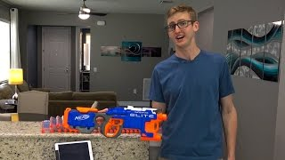 getlinkyoutube.com-SHOOTING 430 NERF DARTS AS FAST AS POSSIBLE | HYPERFIRE