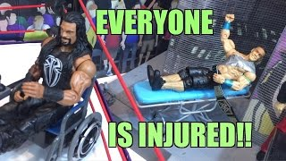 getlinkyoutube.com-GTS WRESTLING: Injured John Cena! WWE Mattel Figure Matches Animation PPV Event!