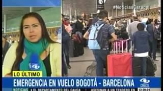 getlinkyoutube.com-Emergencia  en vuelo de Avianca  /   Bogotá - Barcelona  26 de Junio  2015