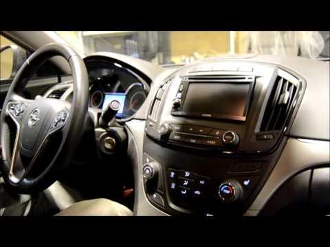 Opel Insignia 2013 установка 2DIN магнитолы + кнопки на руле