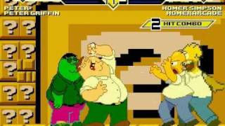 getlinkyoutube.com-Team Homer Simpson vs Team Peter Griffin MUGEN Battle!!!