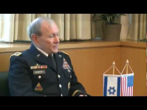 General Dempsey, The Chairman of the Joint Chiefs of Staff, Visit to Israel Janury 20, 2012
