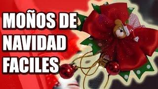 getlinkyoutube.com-Como Hacer Moños Navidad faciles  y economicos, video 555, christmas bows with ribbon