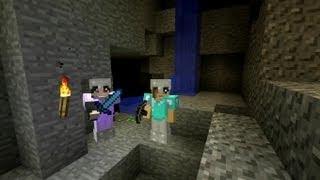 getlinkyoutube.com-Let's Play Minecraft - jaskiniowa ekspedycja; chyba nie powinnyśmy bawić się ogniem ;)