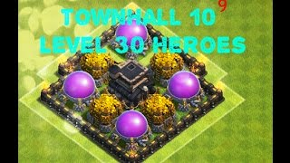getlinkyoutube.com-Clash of Clans: 100% MAXED TH 9!!! ll Getting TH 10 and LVL 30 Heroes! Episode #10