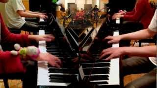 getlinkyoutube.com-劇的ビフォーアフターのテーマ inscrutable battle 【2台ピアノ&Band】