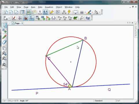 Mr Barton's Autograph Video 22 - Alternate Segment Theorem