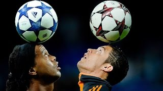 getlinkyoutube.com-Cristiano Ronaldo vs Ronaldinho ● Freestyle ● Crazy Tricks