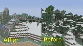 getlinkyoutube.com-Survival World Tour - Minecraft Xbox - Before and After Shots