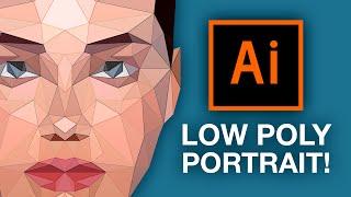 getlinkyoutube.com-Illustrator Tutorial: Low Poly Portrait!