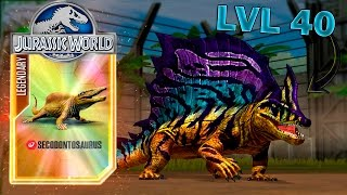 FEEDING SECODONTOSAURUS TO MAX LVL (40)! - Jurassic World The Game - HD