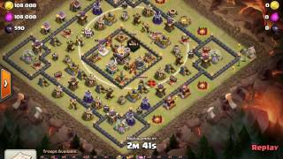 getlinkyoutube.com-Th11 Square Base New Strategy 3 Point Break Get your miners into the center every time! Clash W Jaxx