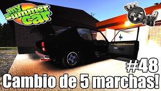 My Summer Car - 5 marchas + Freio ABS + Top speed na rodovia! #48 (G27 mod)