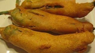 getlinkyoutube.com-Chilli Bajji or Milagai Bajji or Mirchi Bajji (in tamil) Tea time snack