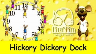 getlinkyoutube.com-Hickory Dickory Dock | Easy learning to read the time on a clock  | Family Sing Along - Muffin Songs