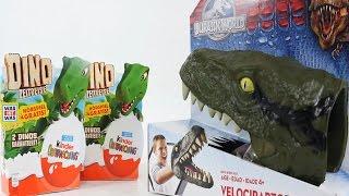 getlinkyoutube.com-공룡 킨더조이 서프라이즈 에그 & 장갑 장난감 알까기 놀이 [대문밖장난감]