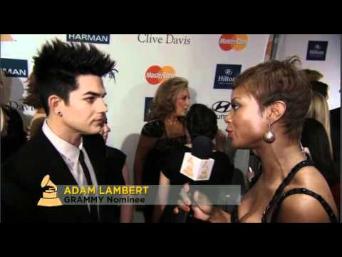Adam Lambert Interview at Clive Davis pre Grammy Party -2-11-2012