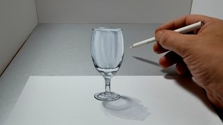 getlinkyoutube.com-3D Trick Art Glass - Amazing Anamorphic Optical Illusion Drawing